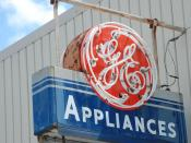 English: Classic General Electric neon sign, in Willacoochee.