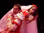 English: Petruchio (Kevin Black) and Kate (Emily Jordan) from a Carmel Shakespeare Festival production of