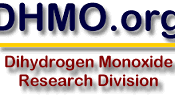 The logo of DHMO.org, primary current residence of the dihydrogen monoxide hoax