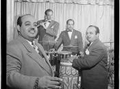 [Portrait of Noro Morales, Ismael Morales, and Humberto López Morales, Glen Island Casino, New York, N.Y., ca. July 1947] (LOC)