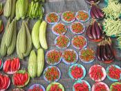English: Organic vegetables at a farmers' market in Argentina.