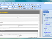 Microsoft Office InfoPath Screenshot