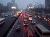As in India, China's economic surge has resulted in a massive increase in the number of private vehicles on its roads overwhelming the transport infrastructure. Shown here is a traffic jam in Beijing.