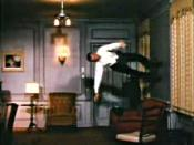 Fred Astaire dancing on the walls and ceiling in