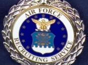 USAF Senior Recruiting Service Badge, 1st award