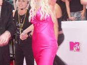 American actress Anna Nicole Smith. on the red carpet for 2005 MTV Video Music Awards