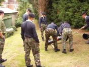 Cadets at BRNC participate in a team problem-solving exercise.