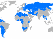 Map of developping countries, without least advanced countries, and failed countries