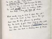 A scan of a final draft of Anthem for Doomed Youth by Wilfred Owen, penned by the author.