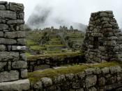 Residential section of the Machu Picchu, Peru.