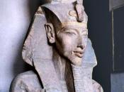 Akhenaten, Pharaoh of Egypt. Egyptian Museum, Cairo.