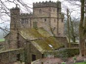 English: North Lees Hall and out buildings Otherwise known as Thornfield Hall from the novel `Jane Eyre` by Charlotte Bronte