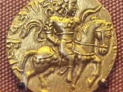 Coin of the Gupta king Chandragupta II