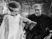 With Boris Karloff in Bride of Frankenstein (1935)