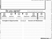 English: This is an image of a blank Dotmocracy sheet, which is a paper form used in the Dotmocracy large group decision-making process. Dotmocracy sheets compliment consensus decision-making by providing a simple way to visibly document levels of agreeme