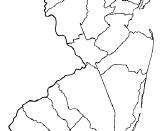 Deutsch: Karte des US-Bundesstaates New Jersey, unterteilt nach Counties, Stadt Upper Saddle River hervorgehoben Lizenzstatus: GNU-FDL