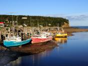 Deutsch: Alma (New Brunswick) bei Ebbe