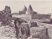 Engraving of the ancient Fakr ad-Din Mosque in Mogadishu built in 1269.