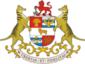 The Tasmanian coat of arms features thylacines as supporters.
