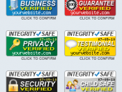 English: These trust seals are provided by http://integrity-safe.com