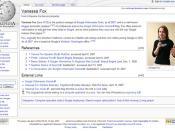 vanessa fox on Wikipedia