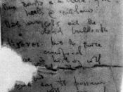 Sheet of toilet paper showing start of Canto LXXXIV, c. May 1945, part of The Pisan Cantos, suggesting Pound may have begun it while in the steel cage