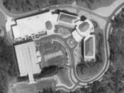 Aerial view of the former headquarters of HealthSouth Corporation in Birmingham, Alabama
