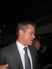 Matt Damon attending the premiere of his new movie The Informant!
