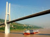China,  Shibangou Bridge underpass,   Fuling,  Yangtze river
