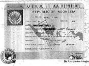 Indonesia : visa 28.03.2001