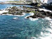 Blue Atlantic Ocean Waters - Rocky Sea Shore