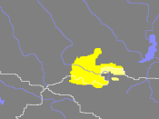 Today's settlement areas of the Tyva in Russia and the Dukha in neighbouring Mongolia.
