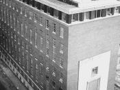 The Dana-Farber Cancer Center in Boston. Image was taken in 1947.