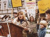 Singer. Anti-nuke rally in Harrisburg, [Pennsylvania] at the Capitol., 04/09/1979