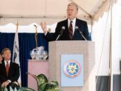 Murtha dedicates the National Drug Intelligence Center in Johnstown in 1993.