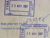 Passport stamp from Tan Son Nhat International Airport.