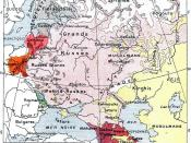 English: Ethnic map of the European part of the Russian Empire