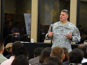 USACE Sacramento District commander speaks to students and faculty at the California State University