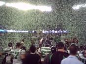 Saskatchewan Roughriders win the 2007 Grey Cup. Toronto, Canada.