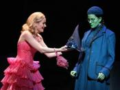 An unlikely friendship develops between Galinda (left) and Elphaba (right)