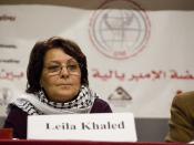 Leila Khaled in Beirut.