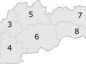 Map of Slovak Republic showing Banská Bystrica Region as region 6