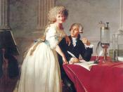 Portrait of Monsieur de Lavoisier and his Wife, chemist Marie-Anne Pierrette Paulze