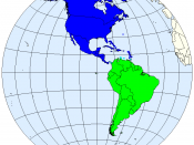 Division of the Americas into North and South America.