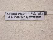 Bilingual (Irish Gaelic/English)street sign