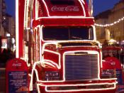 Deutsch: Coca-Cola Weihnachtstruck (auf dem Dresdner Striezelmarkt 2004) Deutsch: Coca-Cola Christmas truck (on the Striezelmarkt in Dresden)