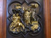 The Sacrifice of Isaac by Ghiberti; museum of the Bargello.