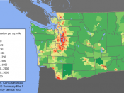Washington Population Density Map.