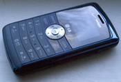 English: Front view of a closed Verizon Wireless LG EnV3 mobile phone. This phone is also known as the LG VX9200