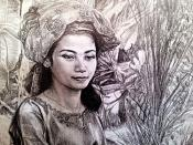 Beautiful Indonesian Woman Drawing